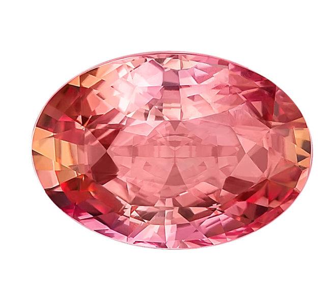редкий розовый сапфир