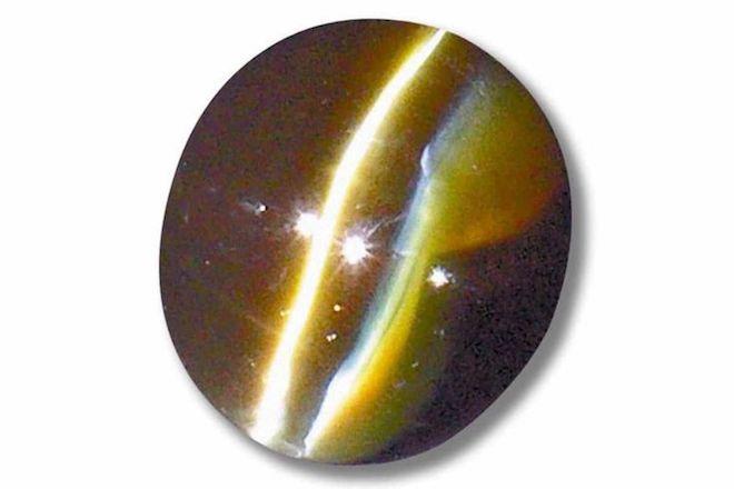 Цимофан. Драгоценный камень благородного происхождения желтого или зеленоватого оттенка