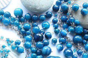 украшения из голубых камней