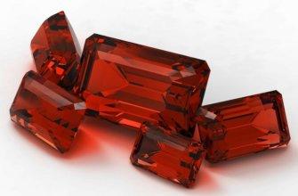 Особенности камней красного цвета