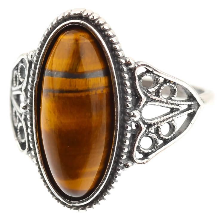 Коричневые камни в ювелирных изделиях
